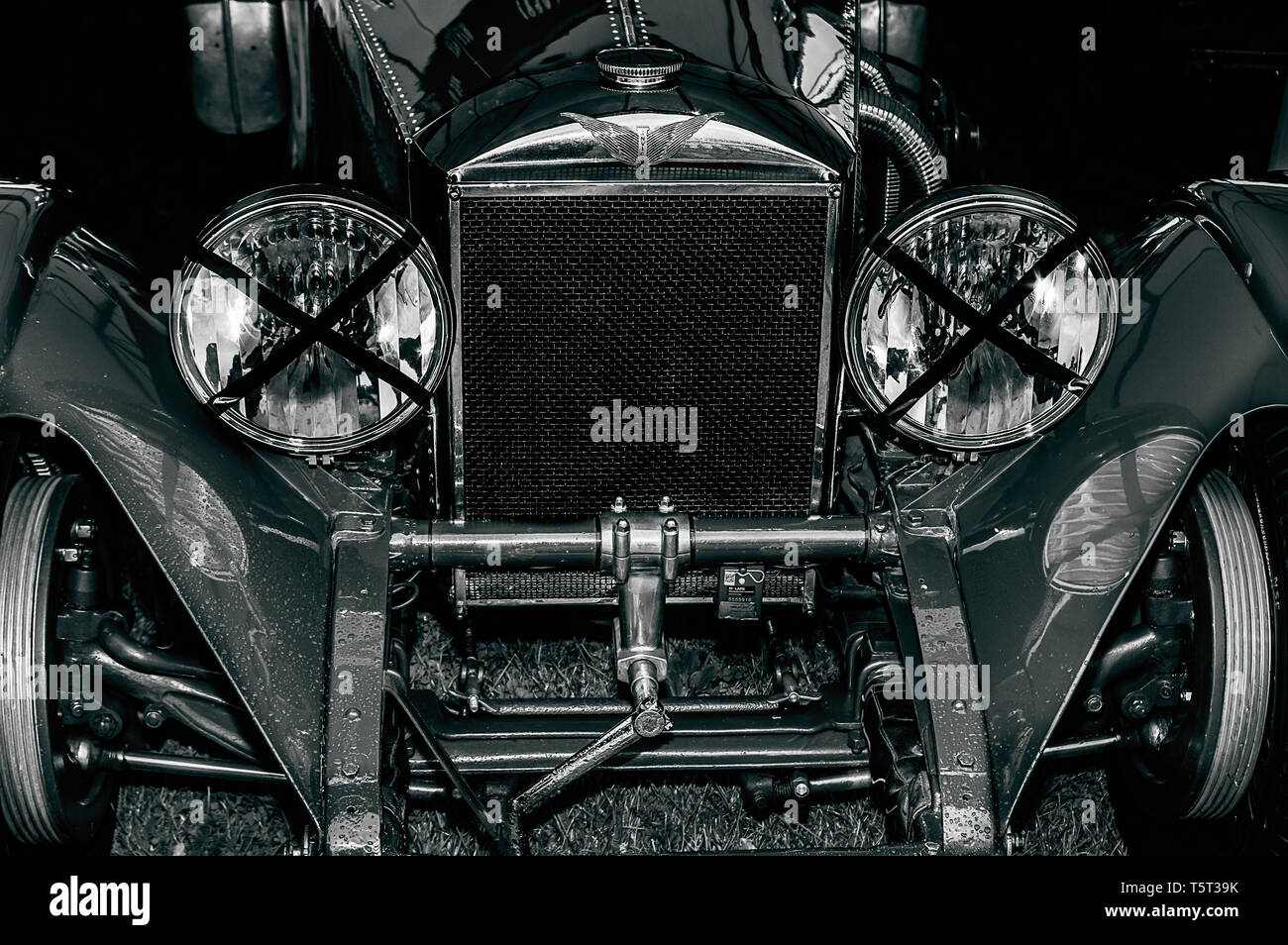A 1930's car on display at Goodwood Revival 2017 - Stock Image