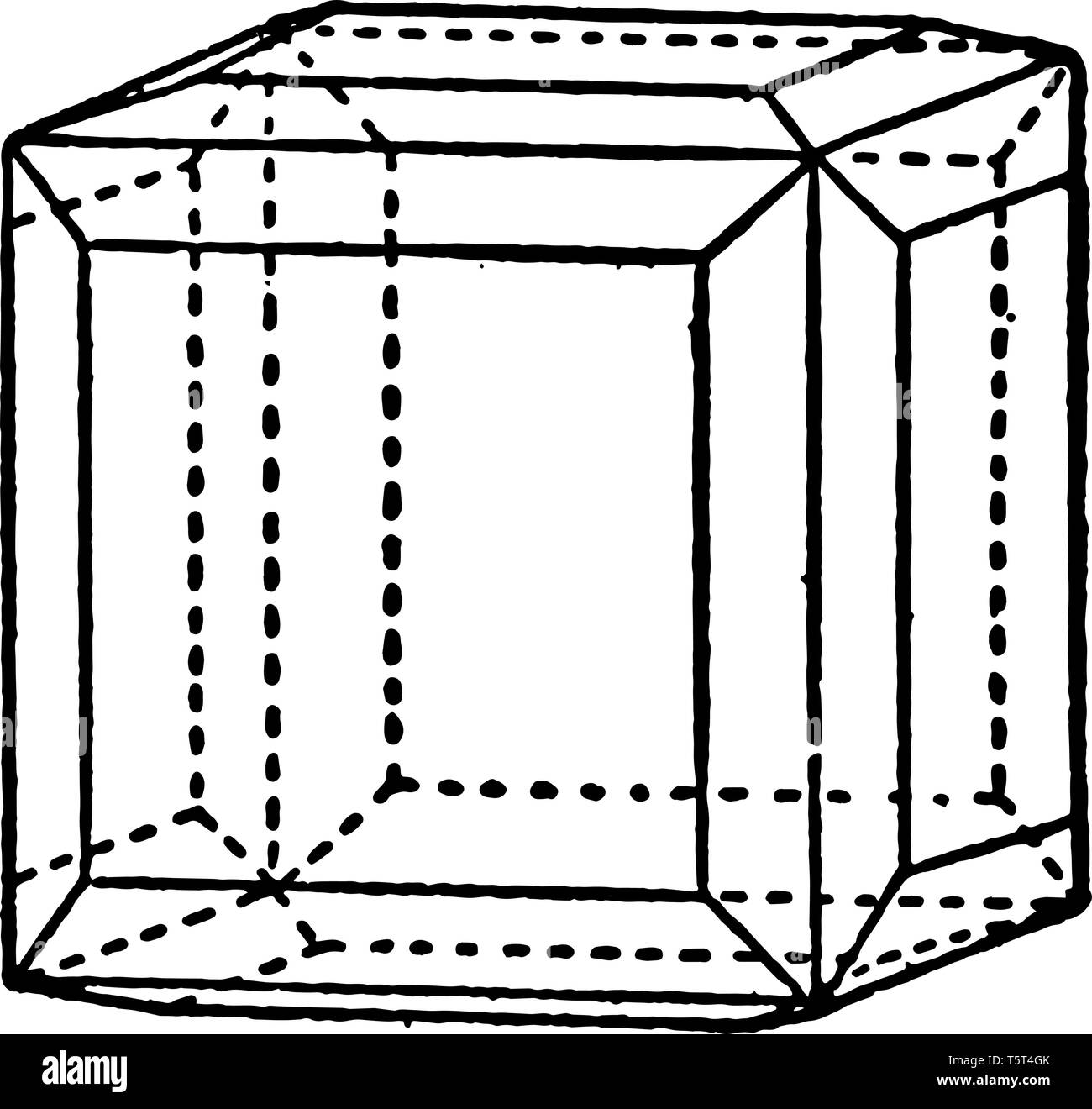 In this image they are a combination of tetrakishexahedron and the Cube. Tetrachis-hexahedron is four cube faces. It is limited by twenty-four isoscel - Stock Image