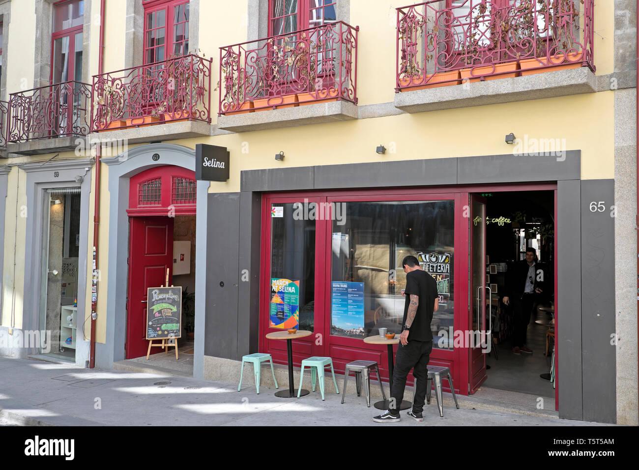 Selina Youth Hostel in the Portuguese city of Porto Oporto Portugal Europe EU  KATHY DEWITT - Stock Image