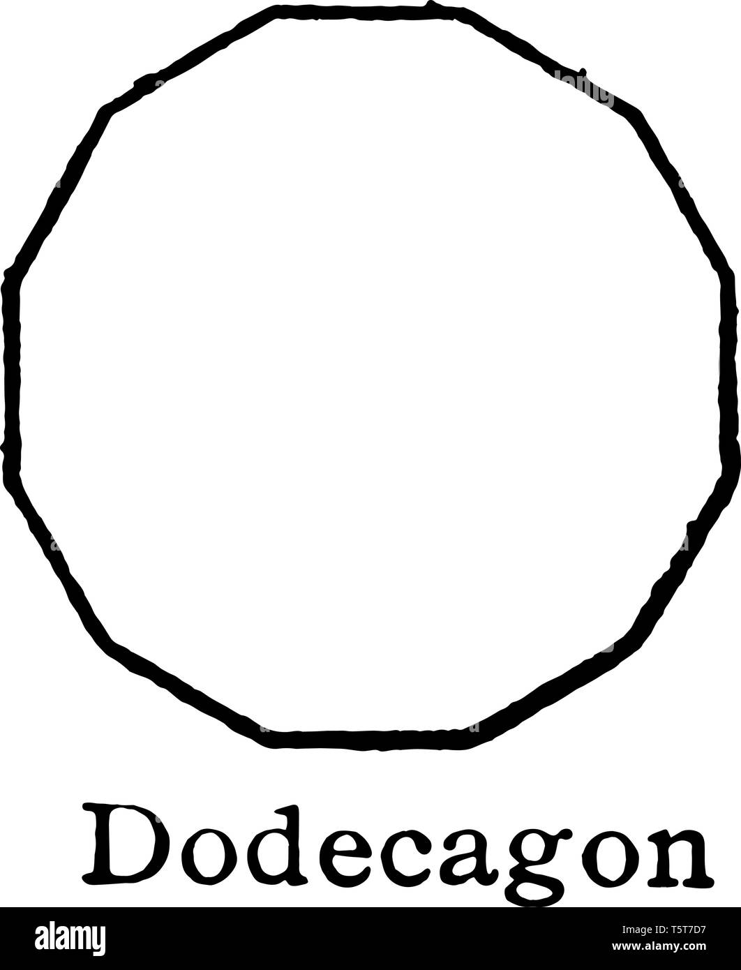 The polygon that shows 10 sides, called it as decagon. A regular decagon of all sides of the composite length and each internal angle is always the sa - Stock Vector