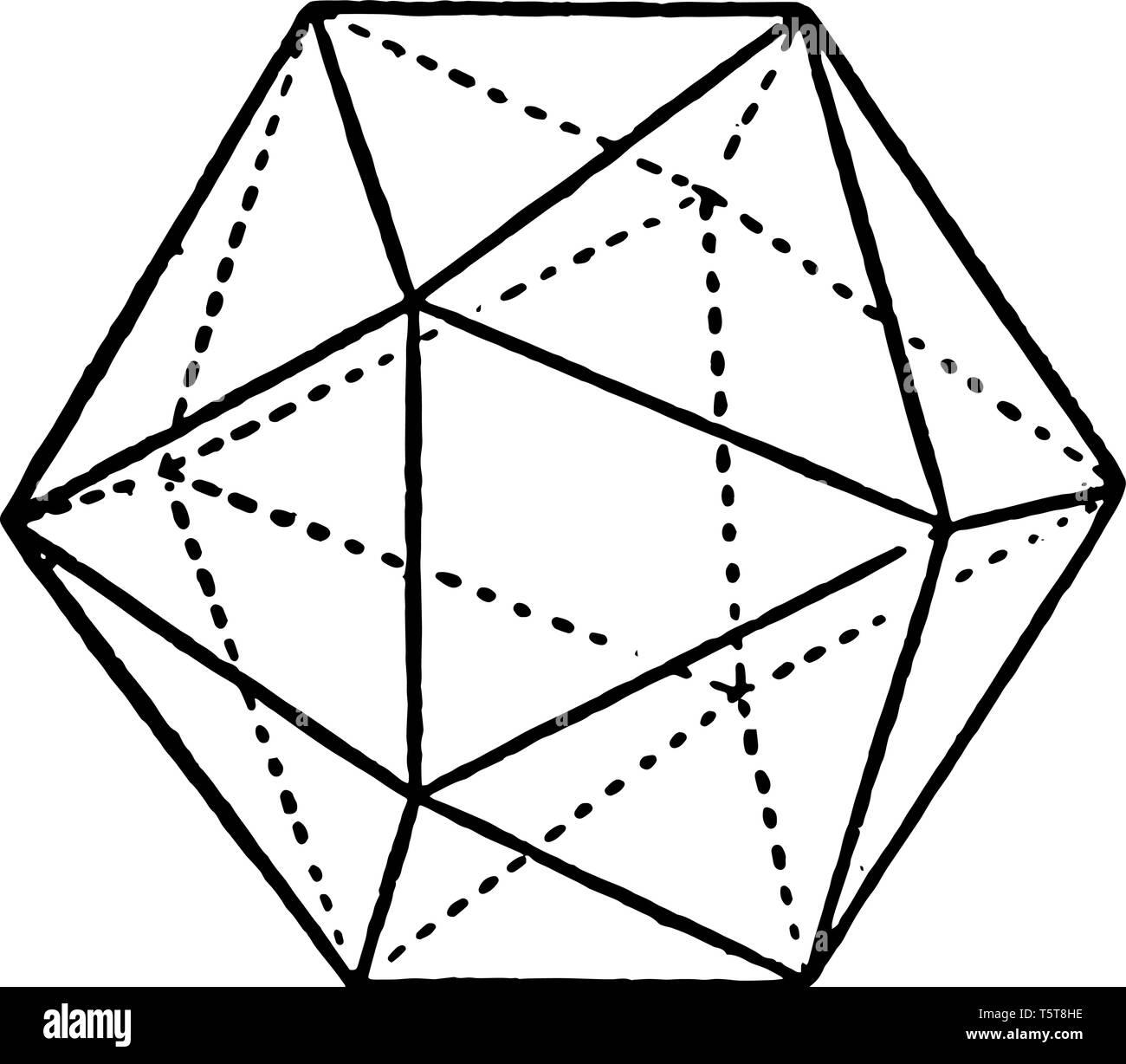 Icosahedron Black and White Stock Photos & Images - Alamy