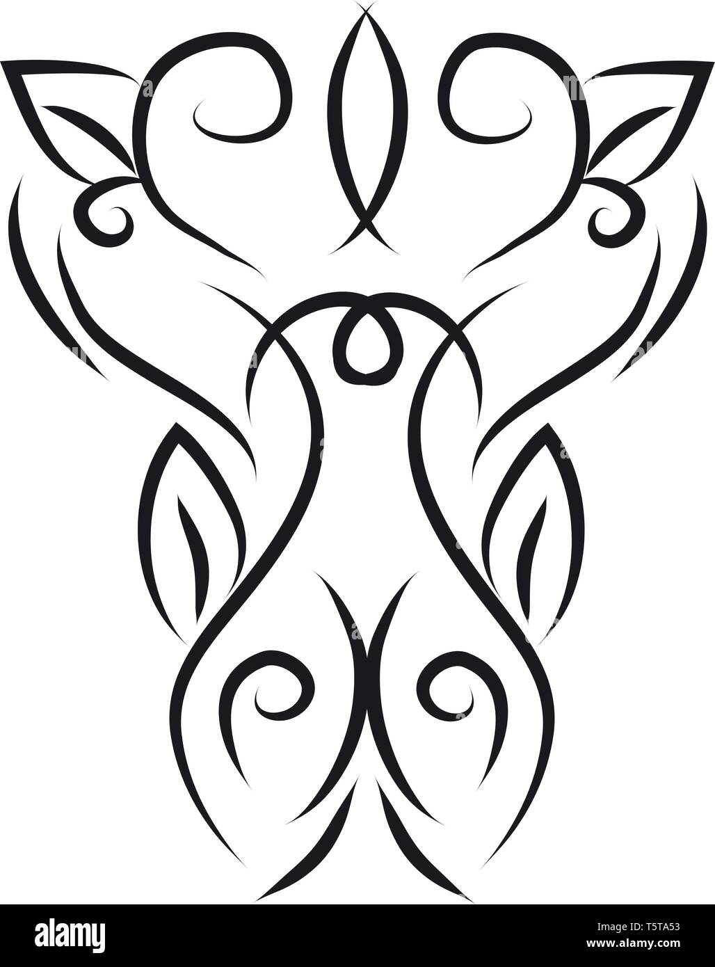 A Line Art Of Abstract Patterns Vector Color Drawing Or