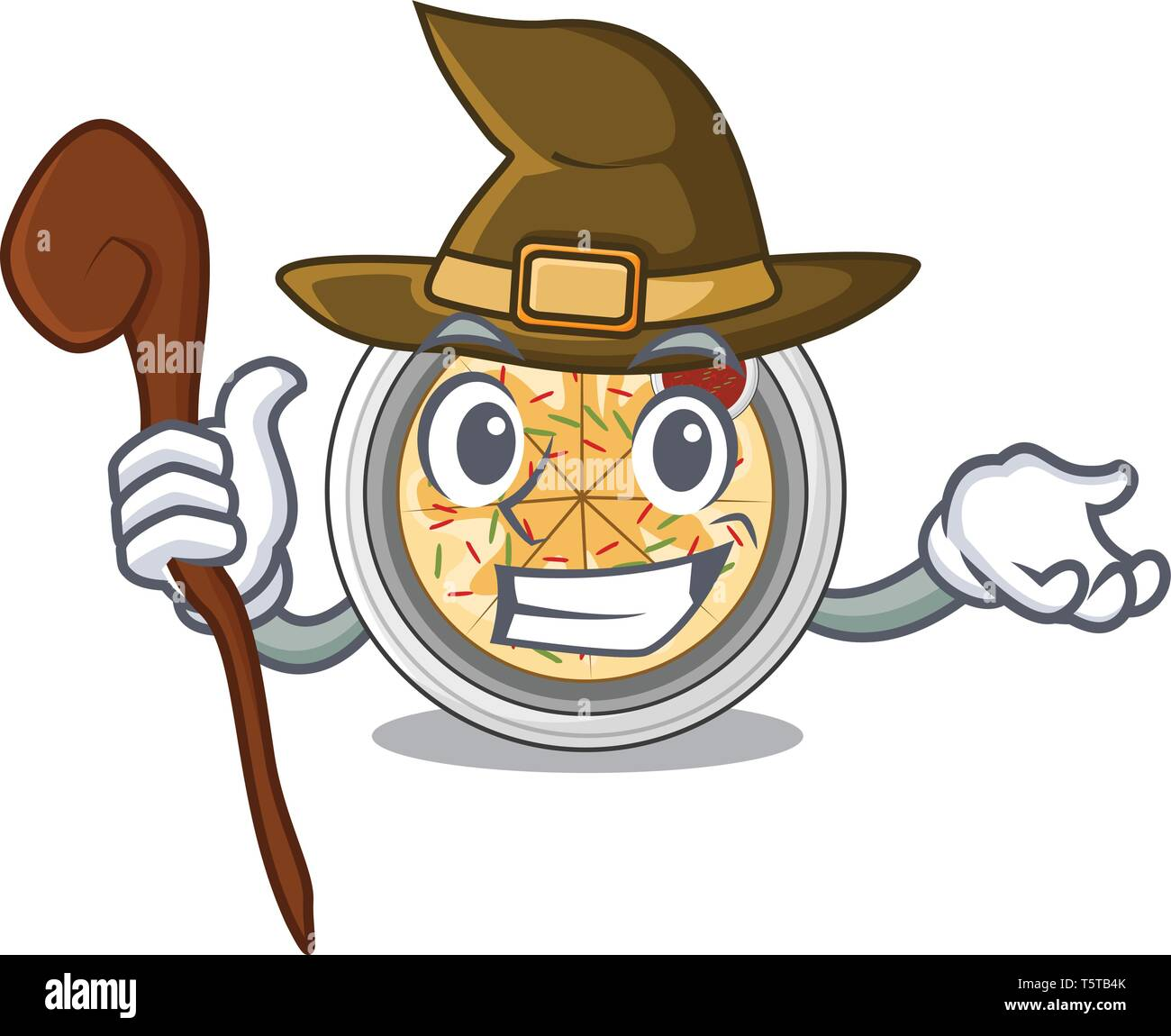 Witch buchimgae isolated with in the mascot - Stock Vector