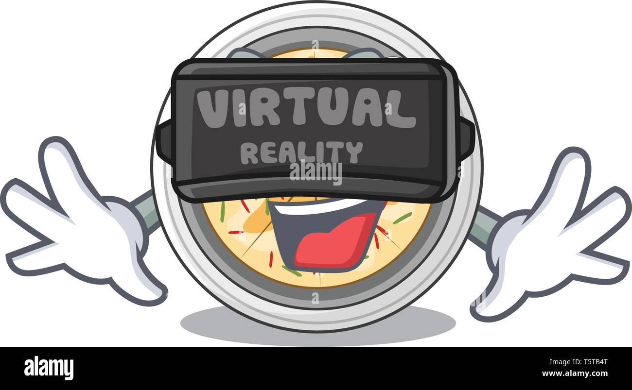 Virtual reality buchimgae isolated with in the mascot - Stock Vector