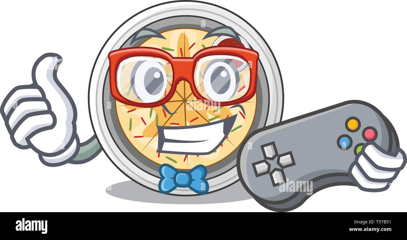 Gamer buchimgae isolated with in the mascot - Stock Vector