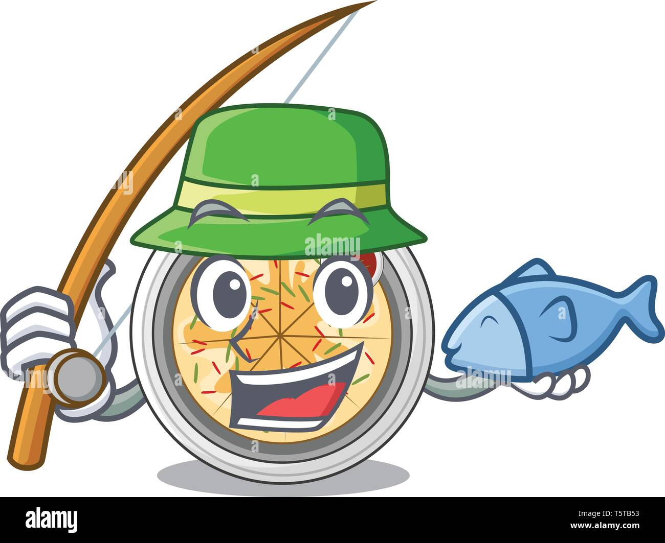 Fishing buchimgae isolated with in the mascot - Stock Vector
