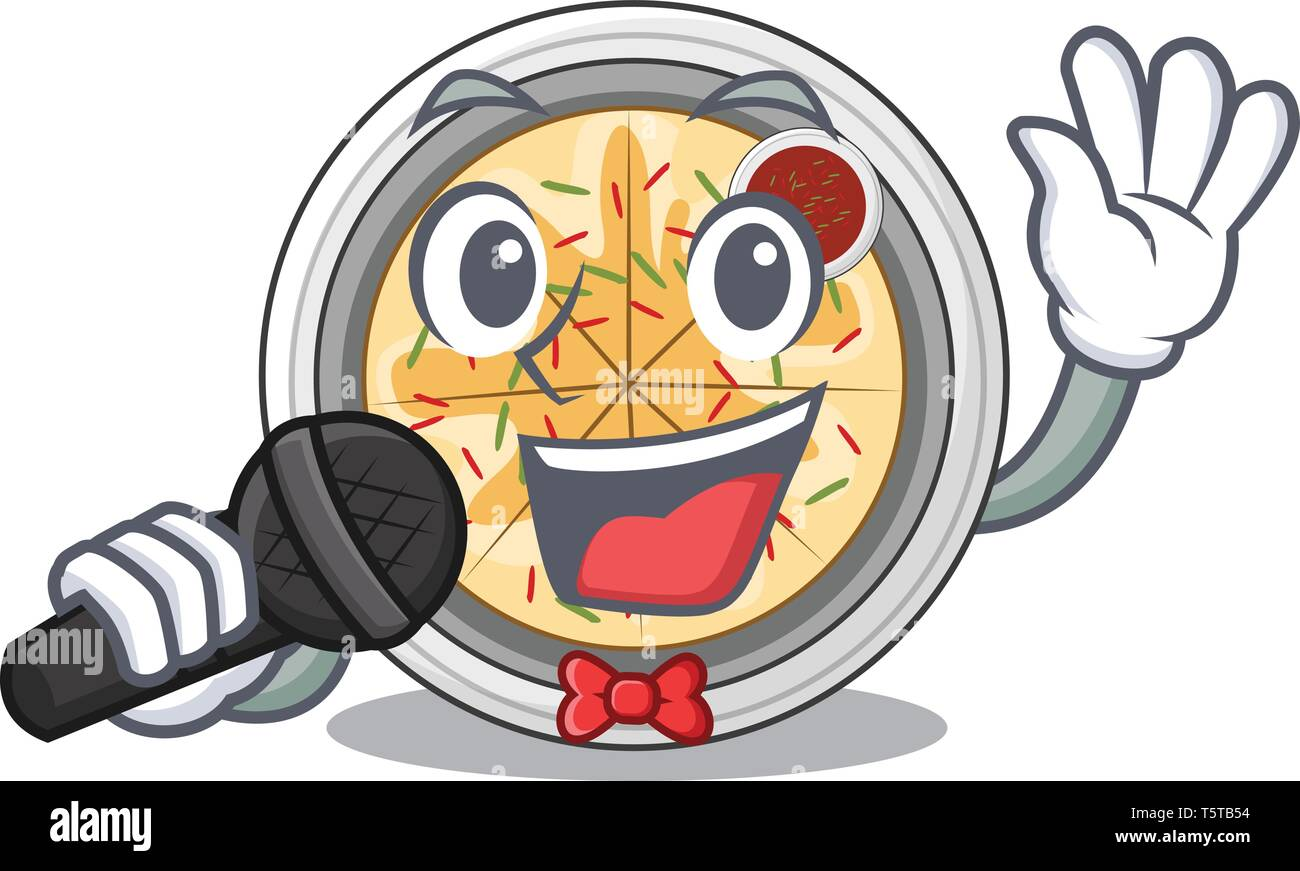 Singing buchimgae isolated with in the mascot - Stock Vector