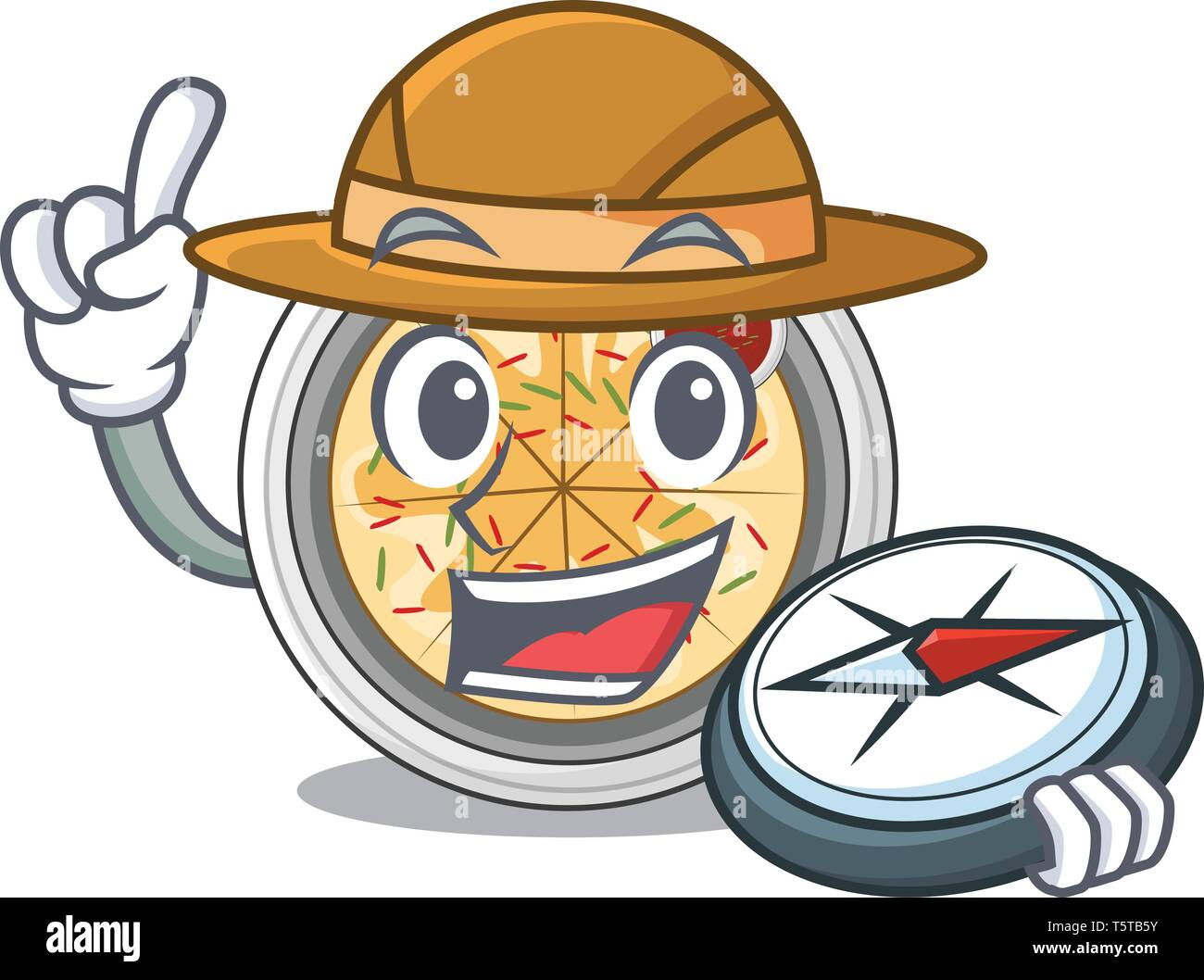 Explorer buchimgae isolated with in the mascot - Stock Vector