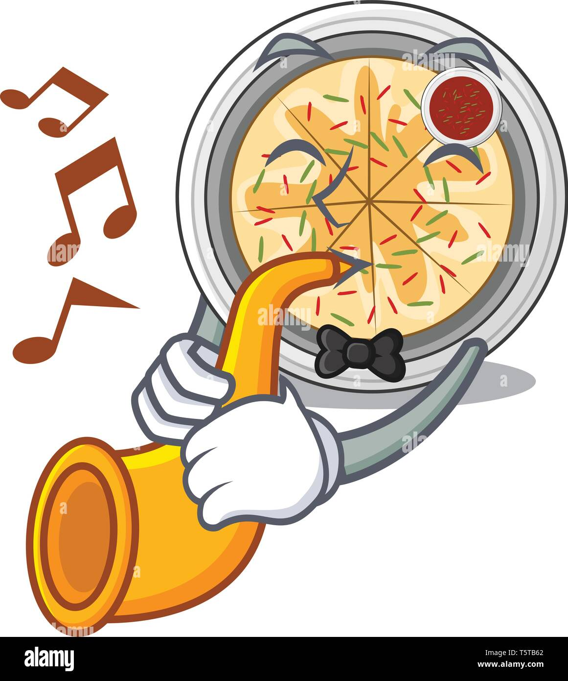 With trumpet buchimgae isolated with in the mascot - Stock Vector