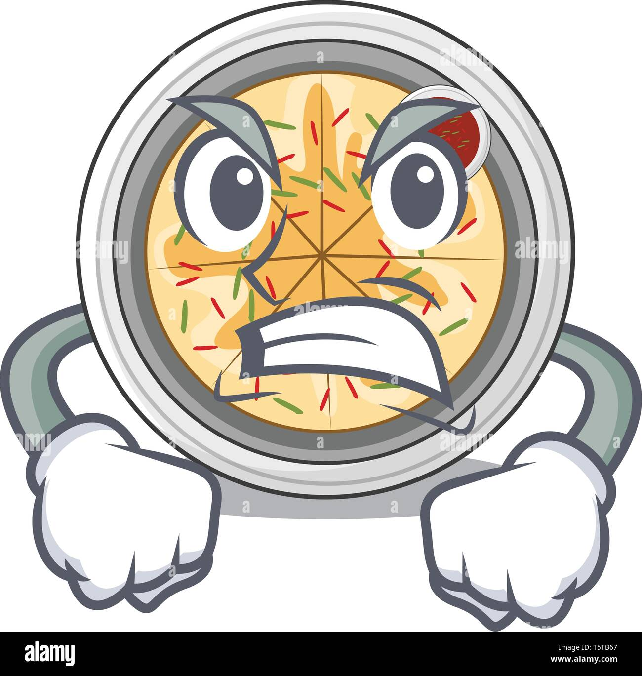 Angry buchimgae isolated with in the mascot - Stock Vector