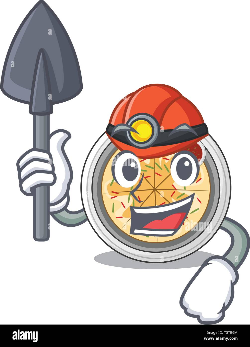 Miner buchimgae isolated with in the mascot - Stock Vector