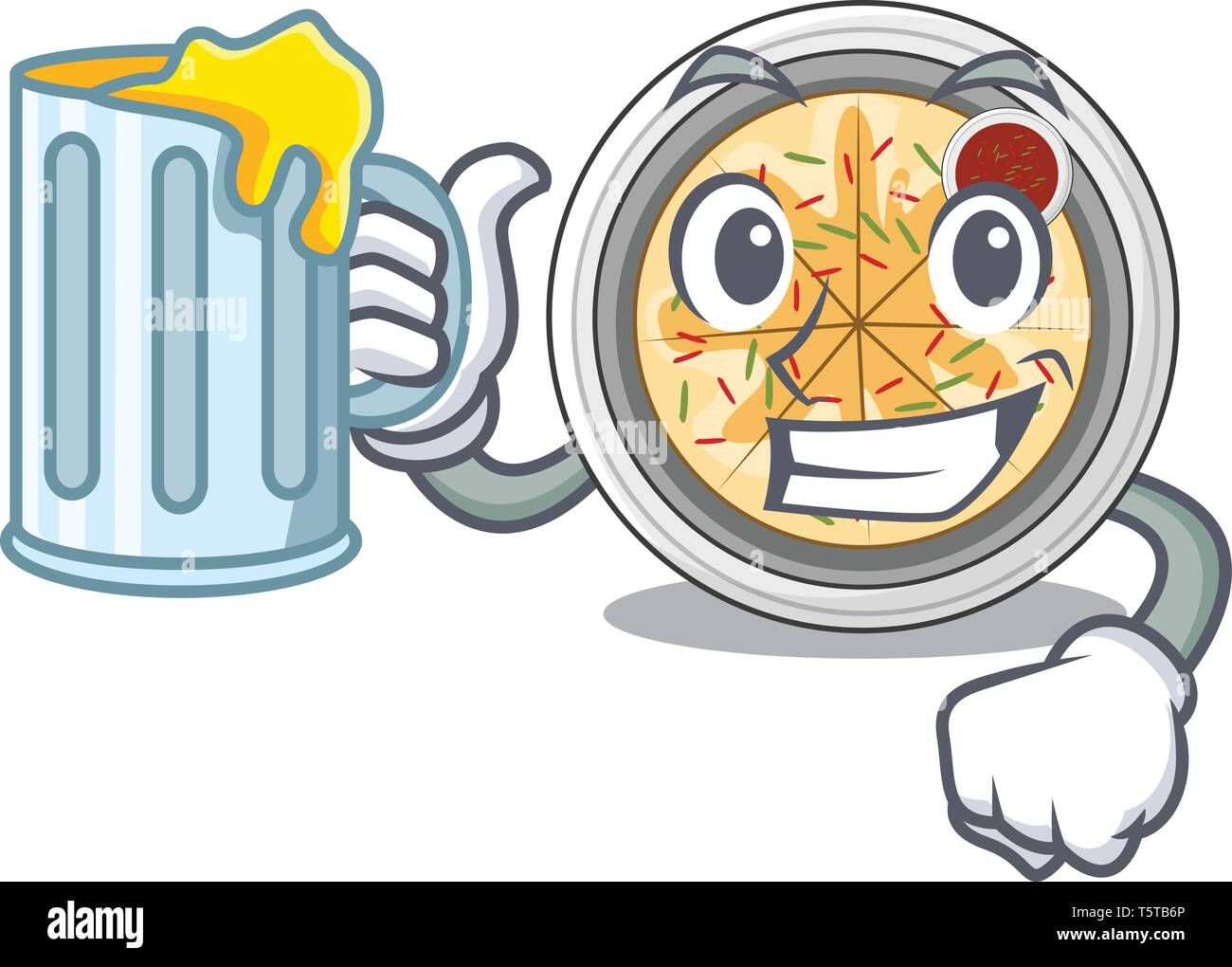 With juice buchimgae isolated with in the mascot - Stock Vector