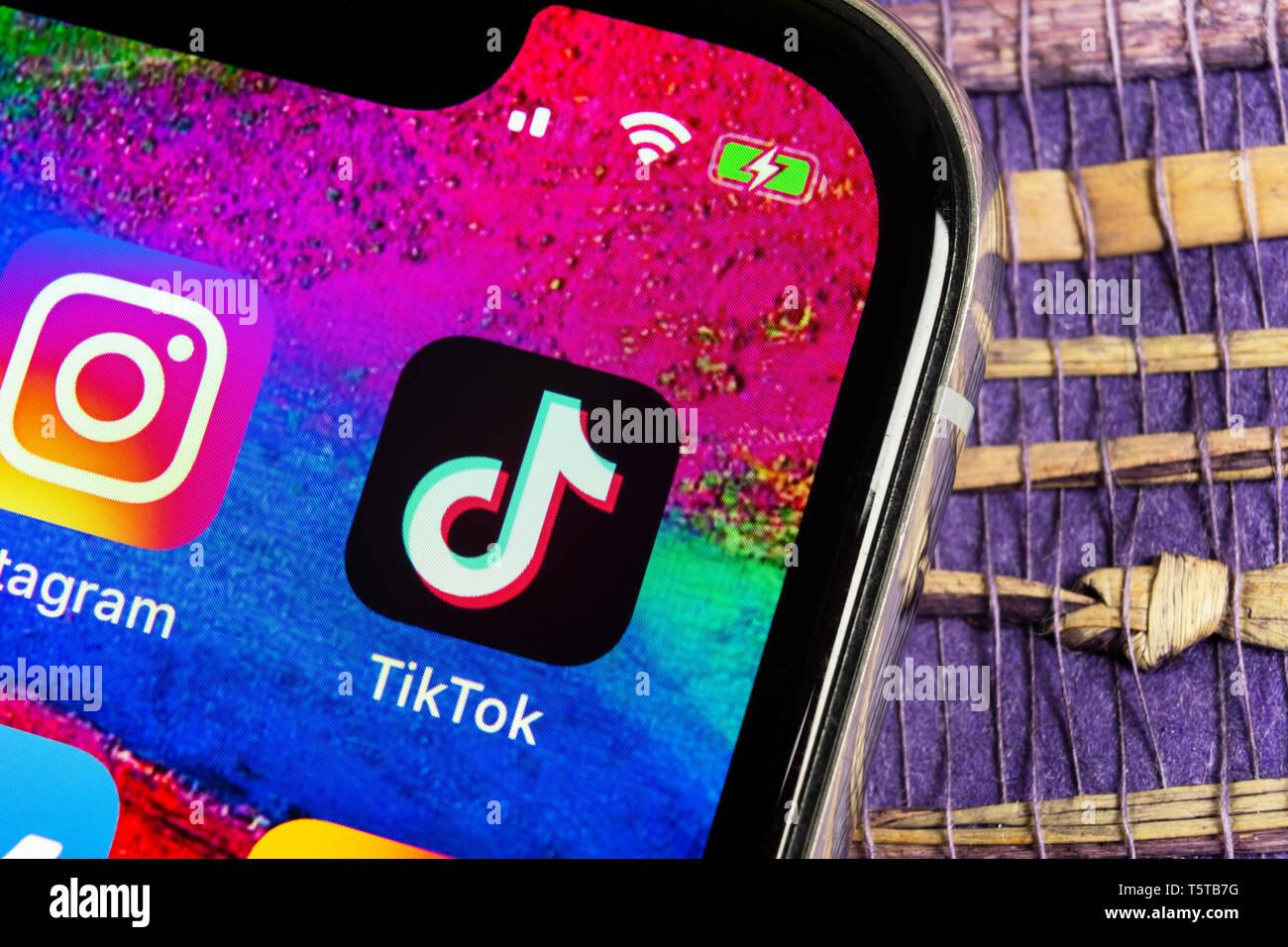 Helsinki Finland February 17 2019 Tik Tok Application Icon On Apple Iphone X Screen Close Up Tik Tok Icon Tik Tok Application Tiktok Social Me Stock Photo Alamy