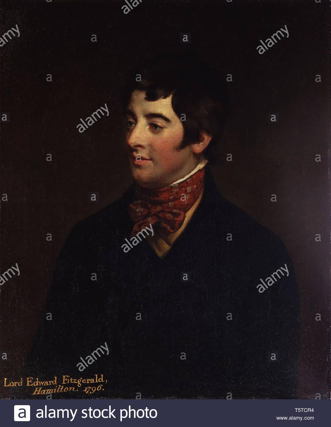 Lord Edward Fitzgerald - Hugh Douglas Hamilton - Stock Image