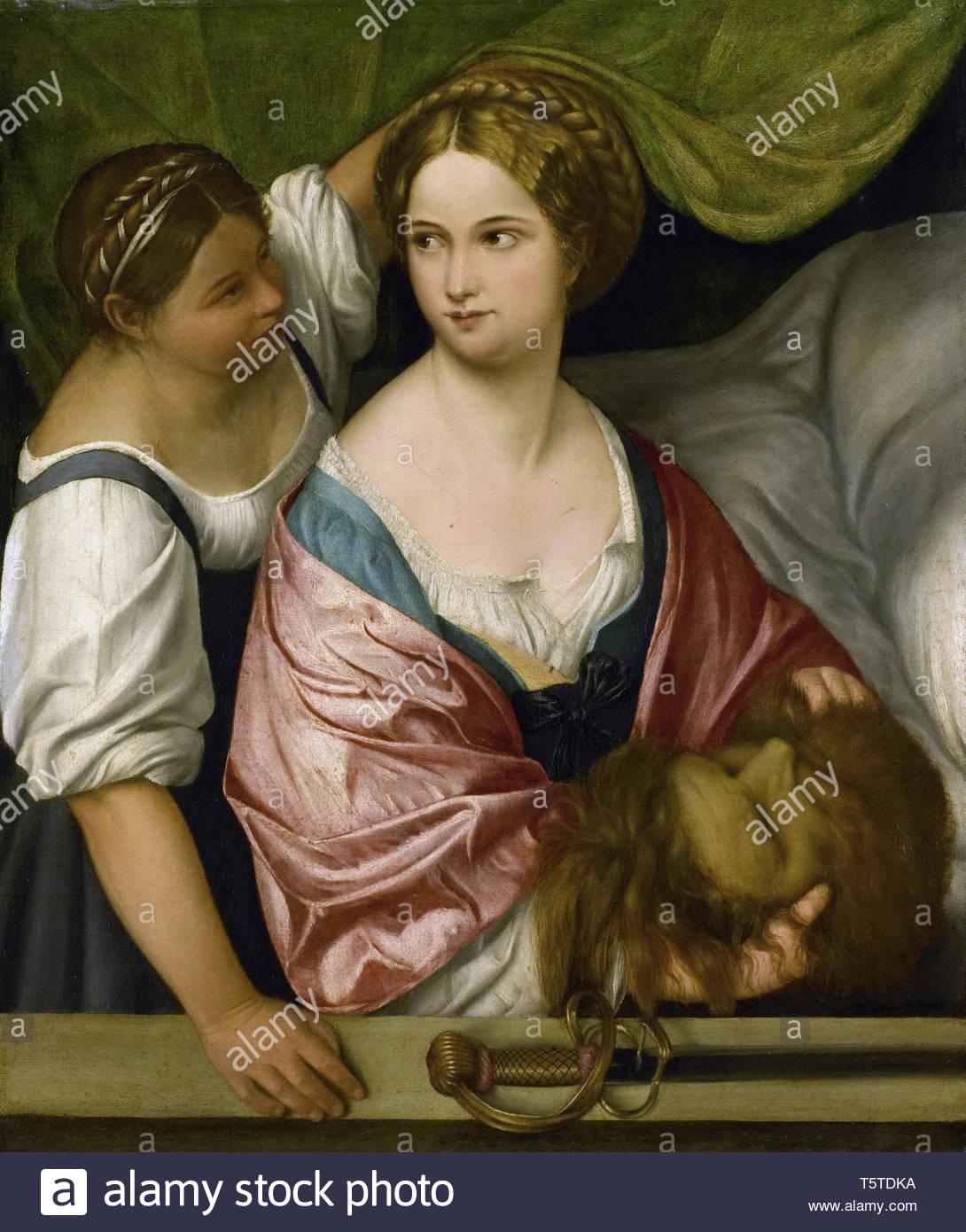 Pordenone-Judith met het hoofd van Holofernes, 1500-1539.jpeg - Stock Image