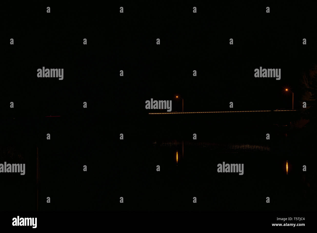 Highway at Night - Stock Image