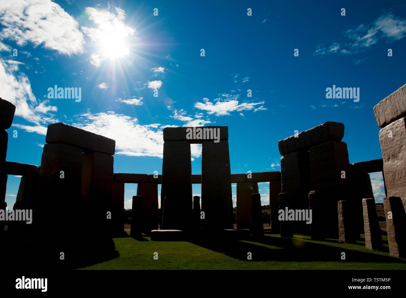 Replica Stonehenge Stone Stock Photos & Replica Stonehenge