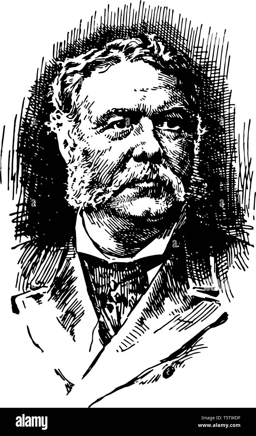 Chester Alan Arthur 1829 to 1886 he was an American attorney politician and the 21st president of the United States vintage line drawing or engraving  - Stock Vector