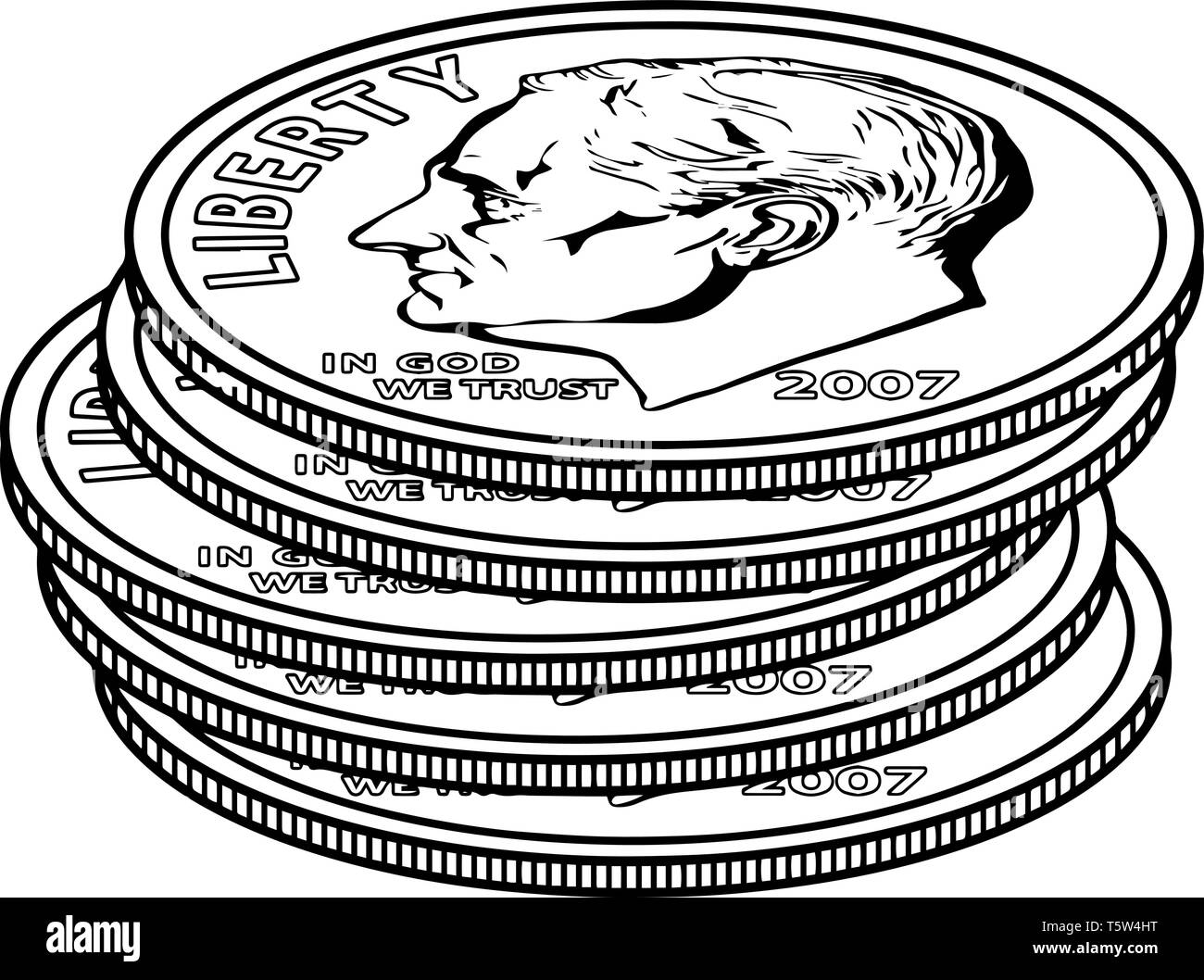 The Picture Shows The 5 Dimes Coin Coin Has Fine Lines