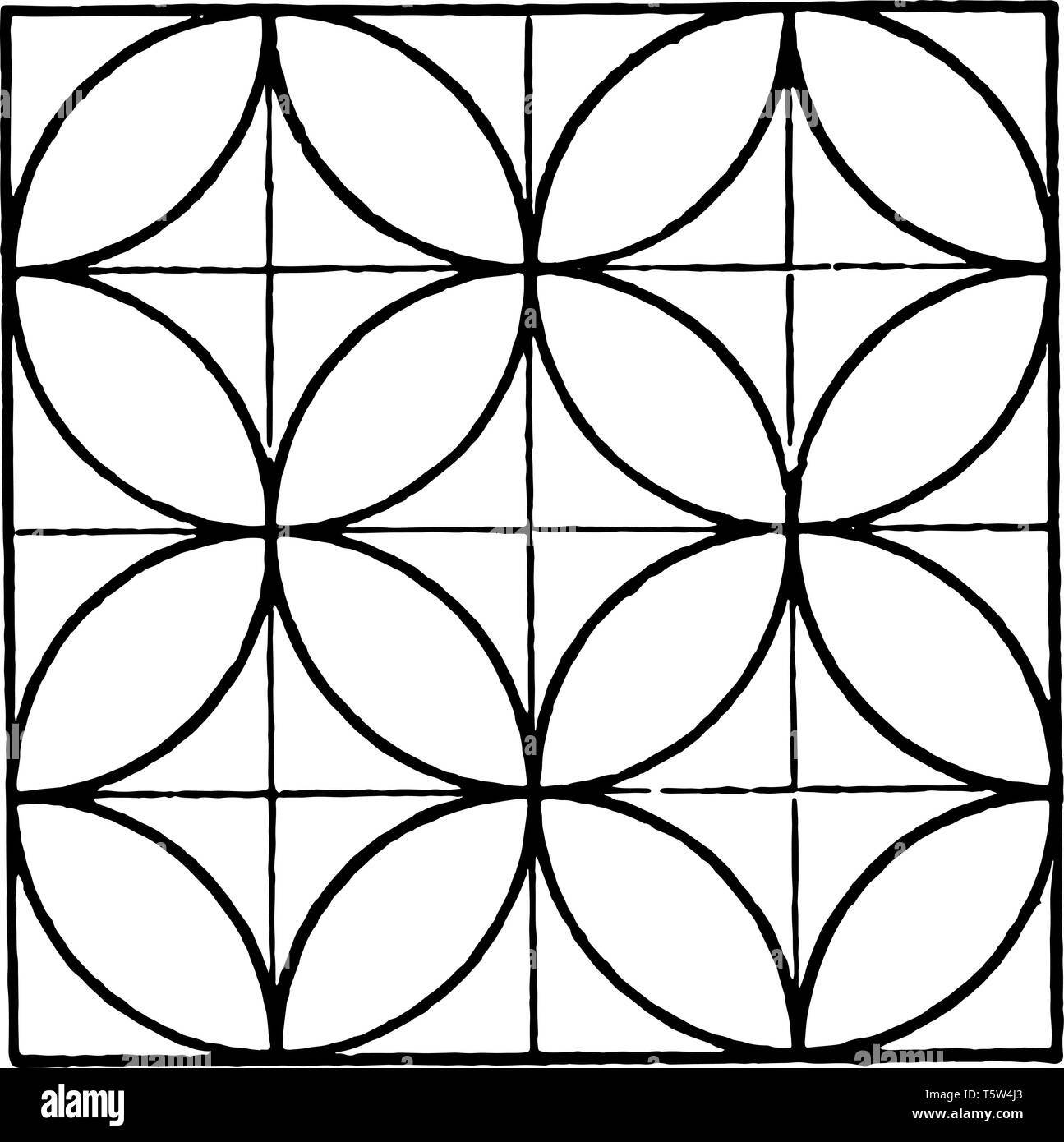 The Image Shows A Beautiful Tiling Design Along With A Repetitive