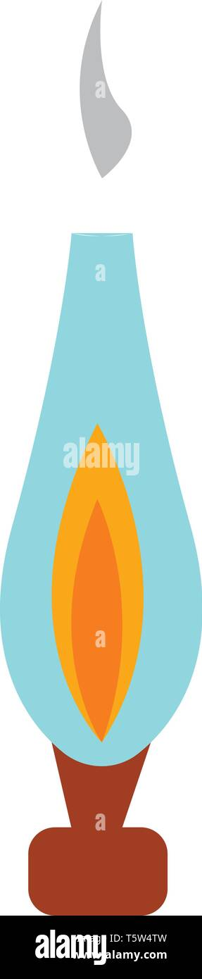 An antique oil lamp vector or color illustration - Stock Vector