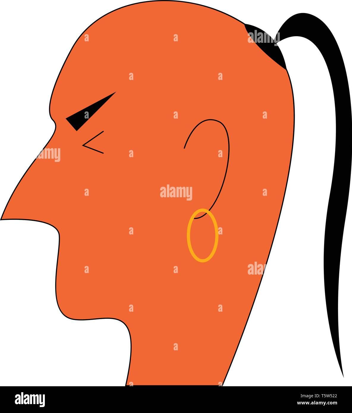 A Hindu monk vector or color illustration - Stock Vector
