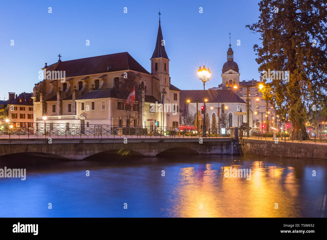 Annecy, called Venice of the Alps, France Stock Photo