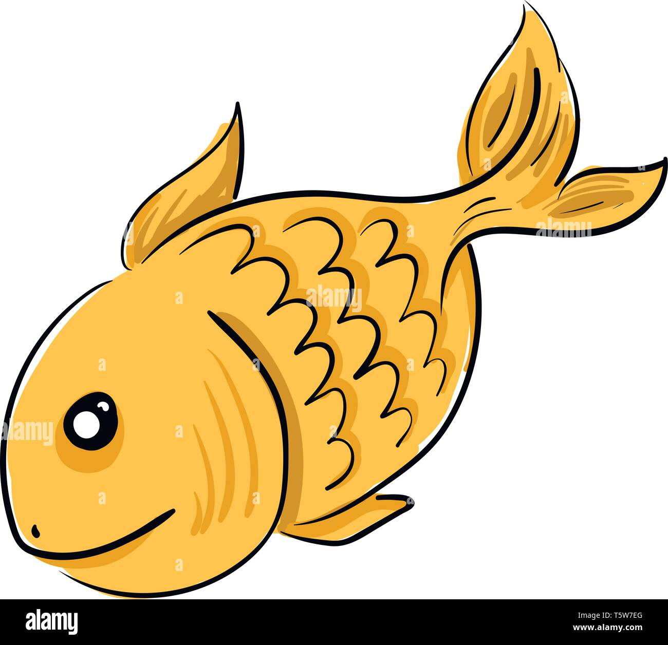a golden fish with black eyes swimming freely in the river vector color drawing or illustration stock vector image art alamy https www alamy com a golden fish with black eyes swimming freely in the river vector color drawing or illustration image244573128 html