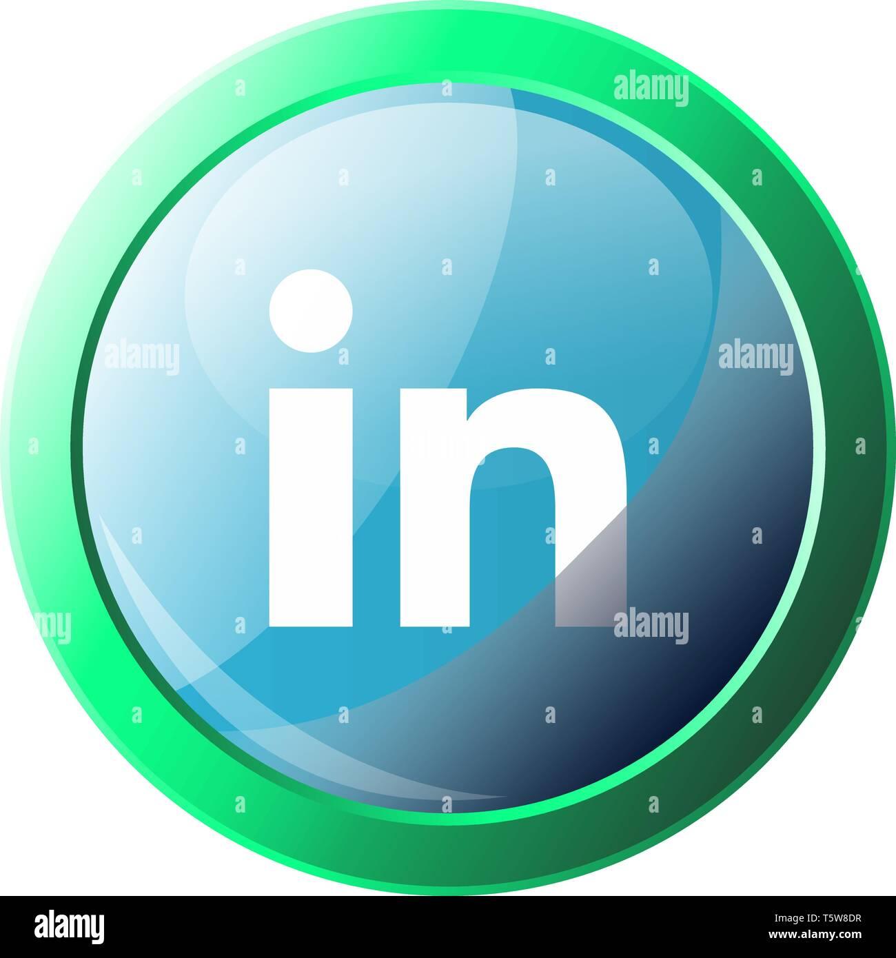 Logo Linkedin On White Background Stock Photos Logo
