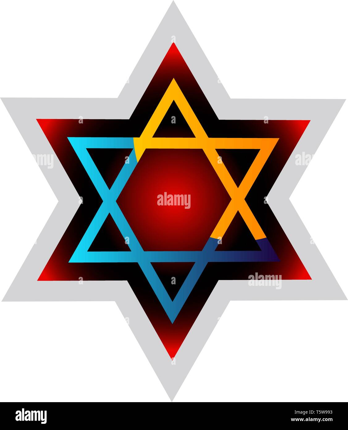 Judaism symol colorful vector illustration on a white background - Stock Vector