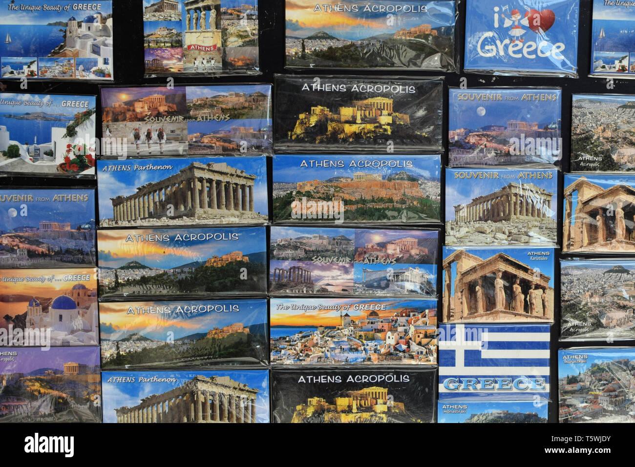ATHENS JUMBO FRIDGE MAGNET GREECE ACROPOLIS PARTHENON ATTICA GREEK
