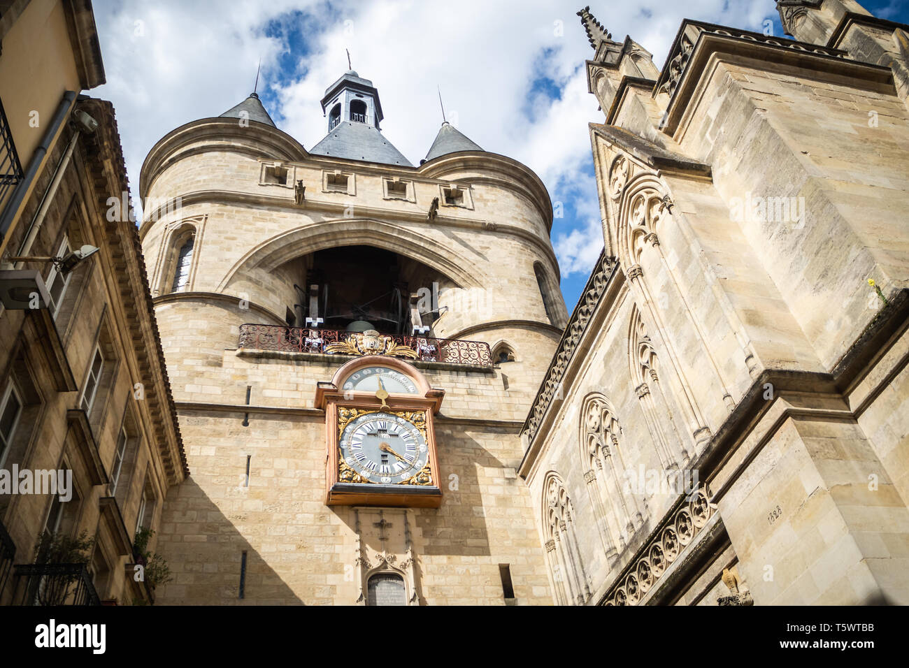 Parish Church of Saint Eloi Saint James Street in Bordeaux - Stock Image