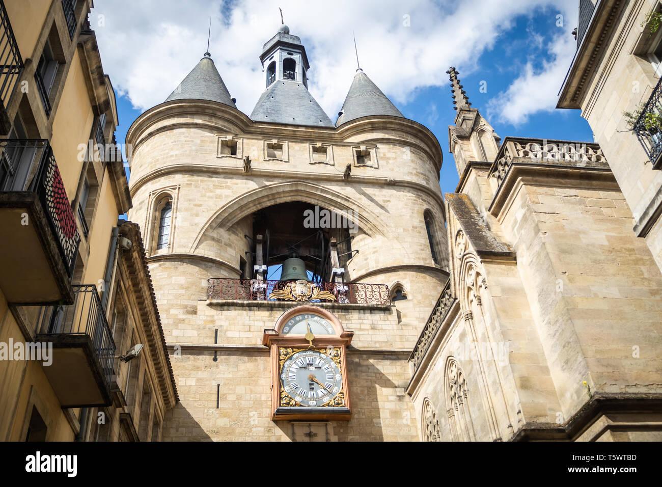 Parish Church of Saint Eloi in Bordeaux - Stock Image