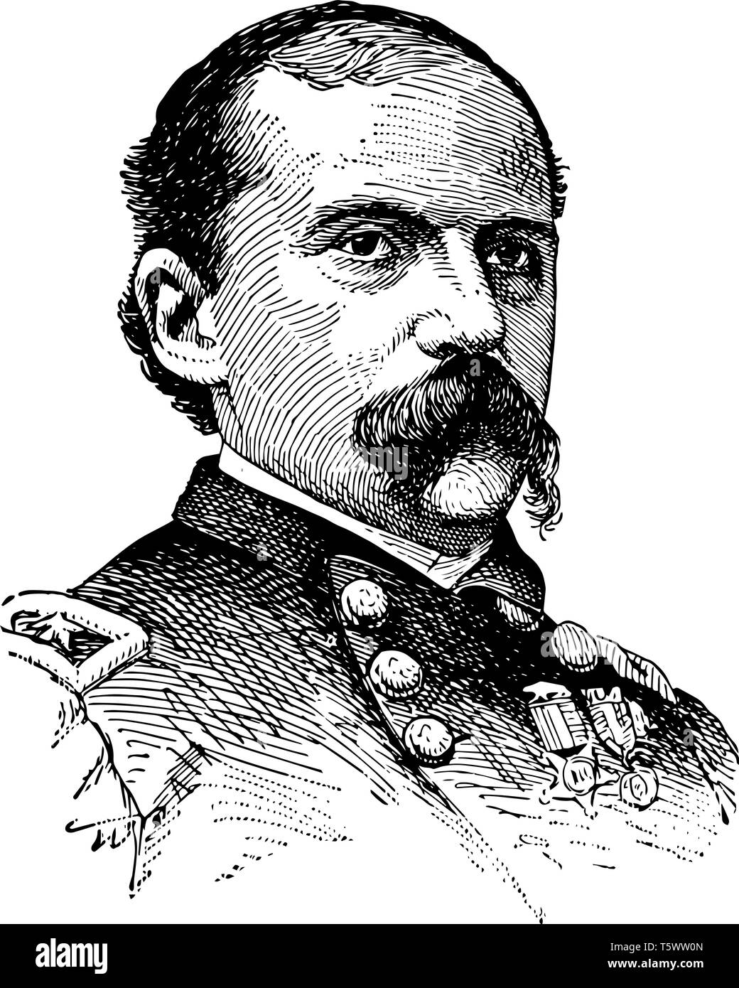 Edward M. McCook 1833 to 1909 he was a lawyer politician distinguished union cavalry general in the American civil war and governor of the territory o - Stock Vector