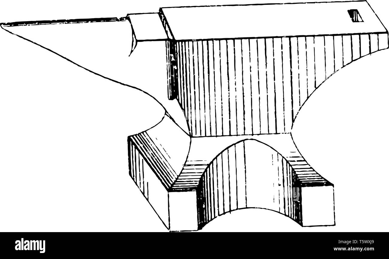 This illustration represents Anvil Tool which is a basic