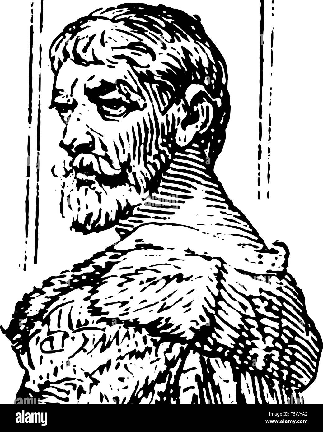 Benvenuto Cellini 1500 to 1571 he was an Italian painter goldsmith draftsman sculptor and musician of the Renaissance famous for his autobiography and - Stock Vector