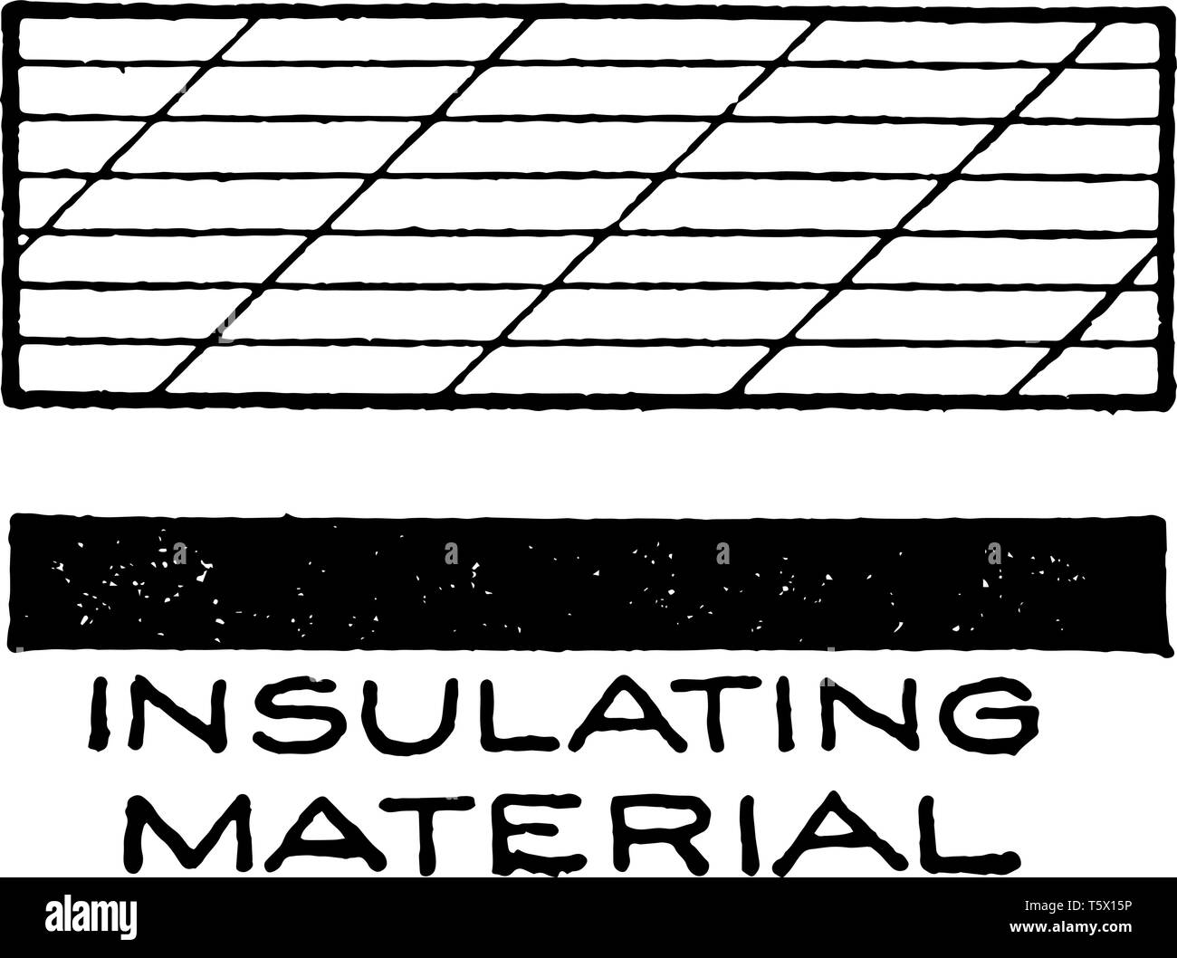 Mechanical Drawing Cross Hatching of Insulating Material is similar in both drawing and painting, two basic techniques for the creation of tone, vinta - Stock Image