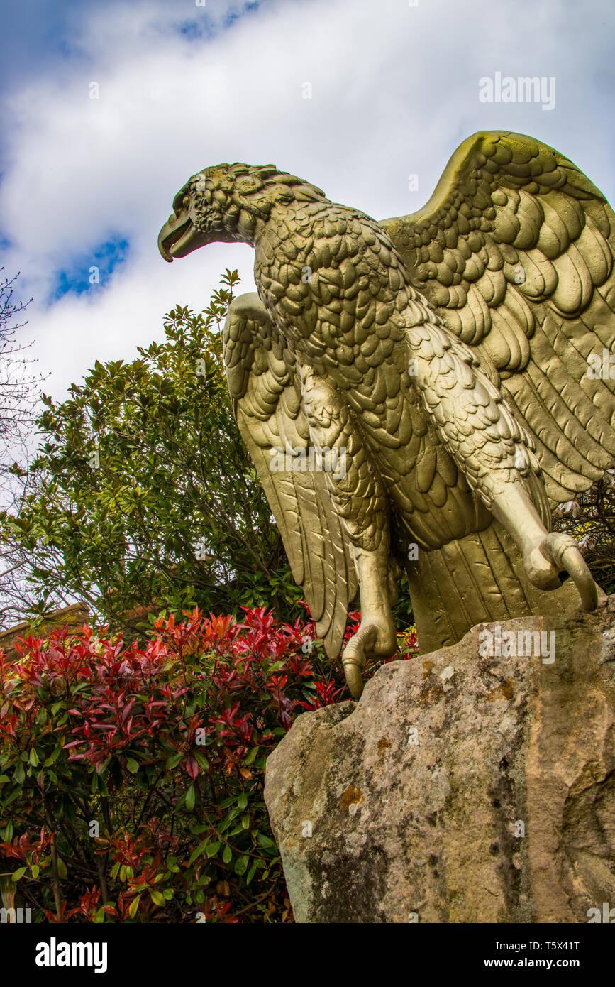 Eagle statue at Copthorpe barracks, Shrewsbury, UK - Stock Image