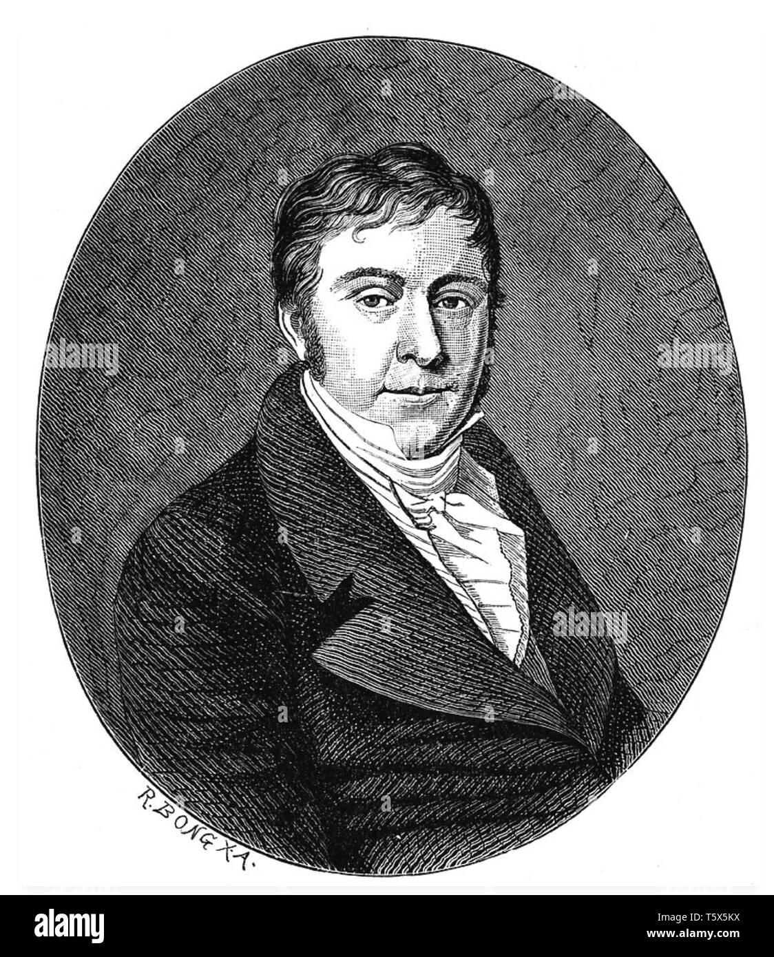 JOHANN HUMMEL (1778-1837) Austrian composer - Stock Image