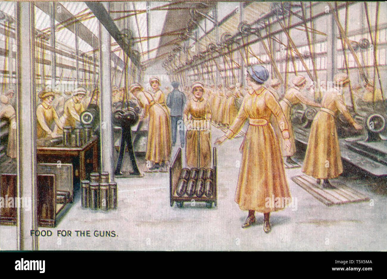 BRITISH MUNITIONS FACTORY about 1915 - Stock Image
