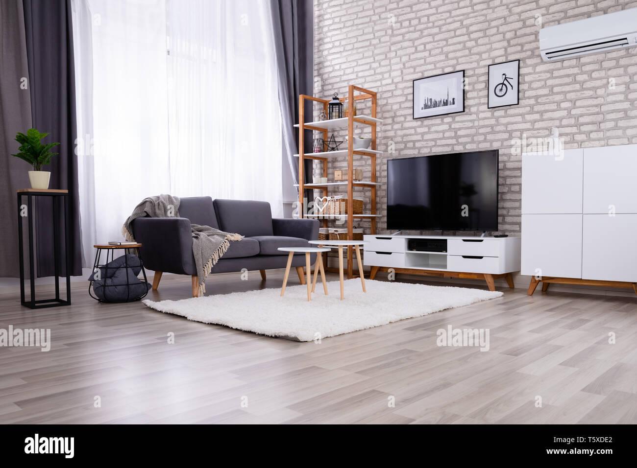 Prime Beautiful Modern Living Room With Empty Gray Sofa Stock Uwap Interior Chair Design Uwaporg