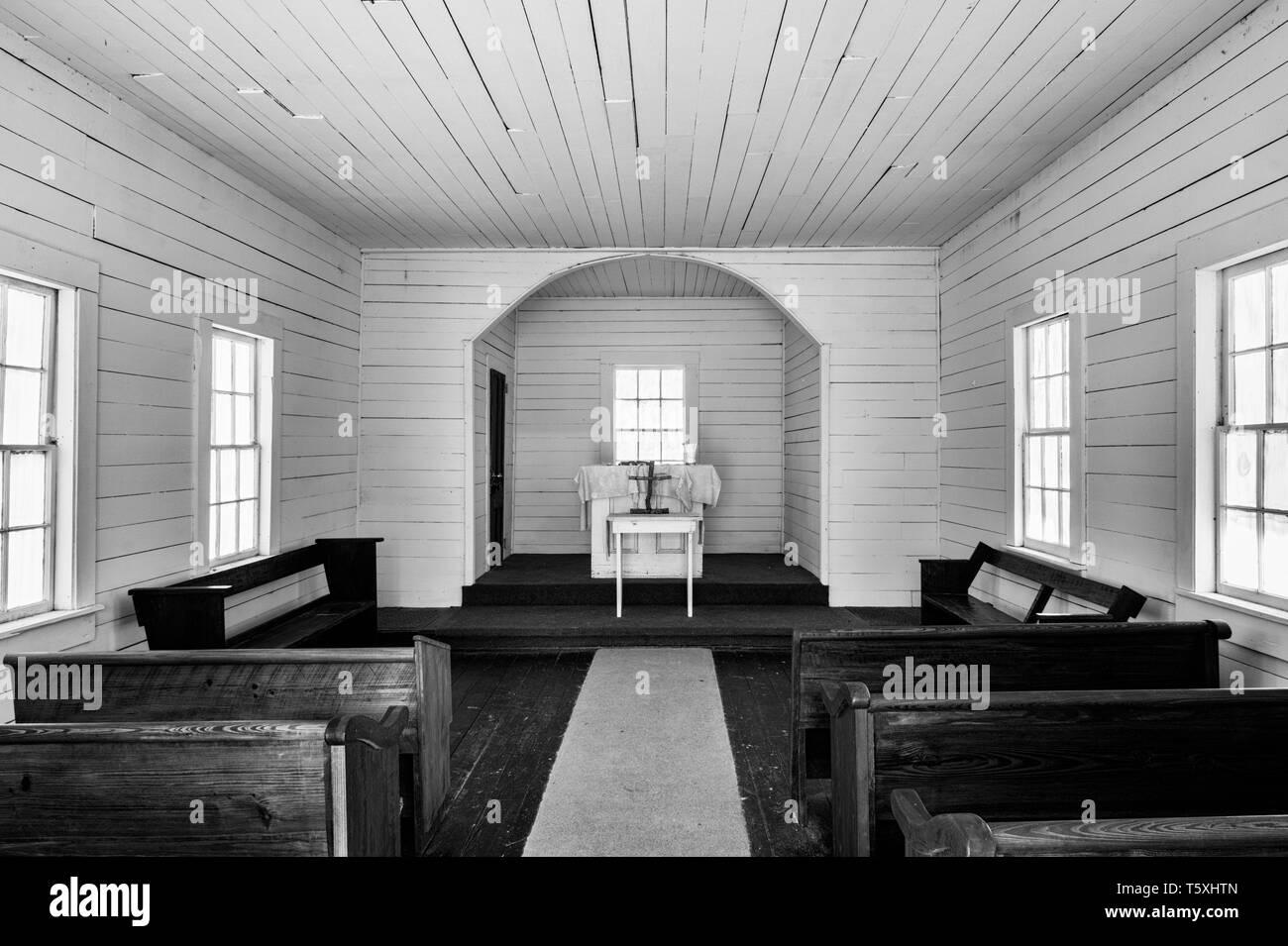 First African Baptist Church, Cumberland Island, Georgia - Stock Image