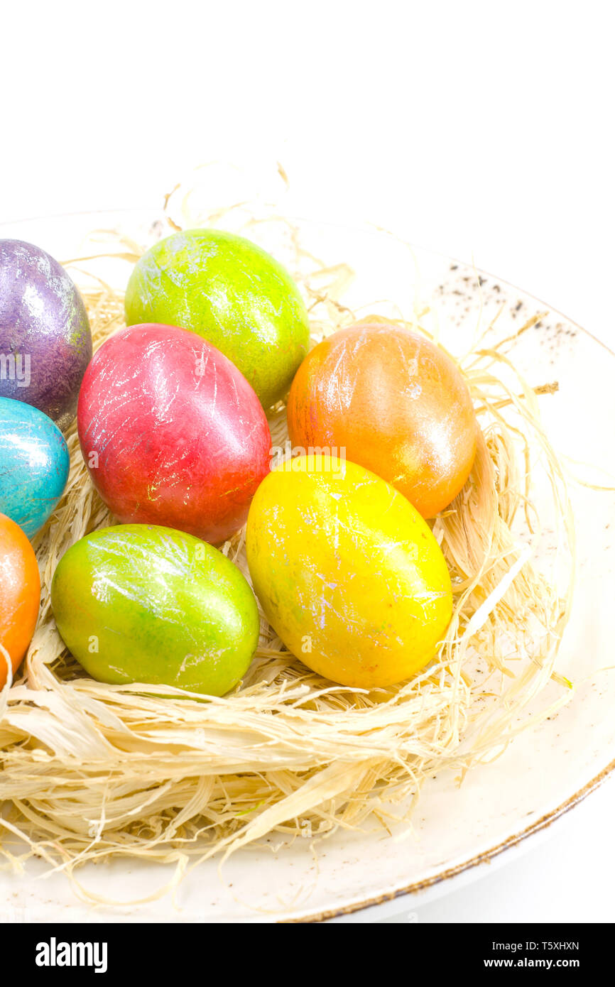 Painted in the spirit of the traditions of Easter eggs Stock