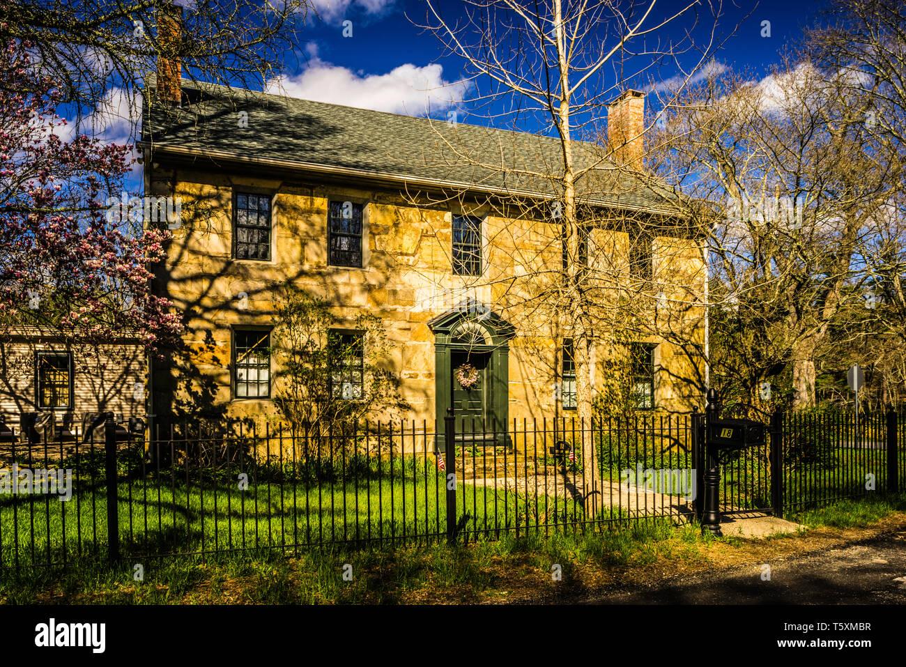 Daniel's Village Archeological Site _ Killingly, Connecticut, USA - Stock Image