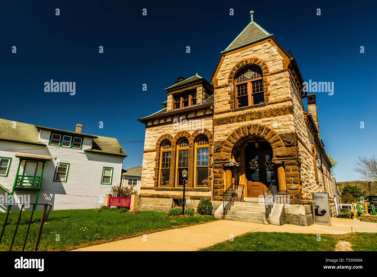 Slater Library _ Griswold, Connecticut, USA - Stock Image