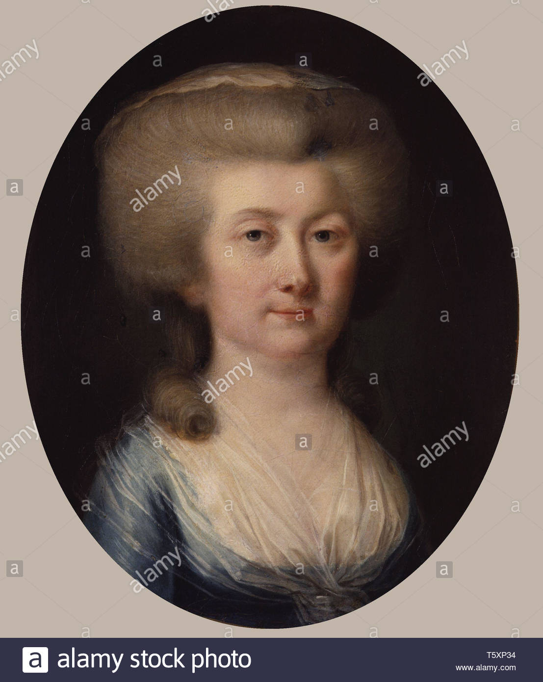 Unknown woman, formerly known as Louisa, Countess of Albany - Hugh Douglas Hamilton - Stock Image