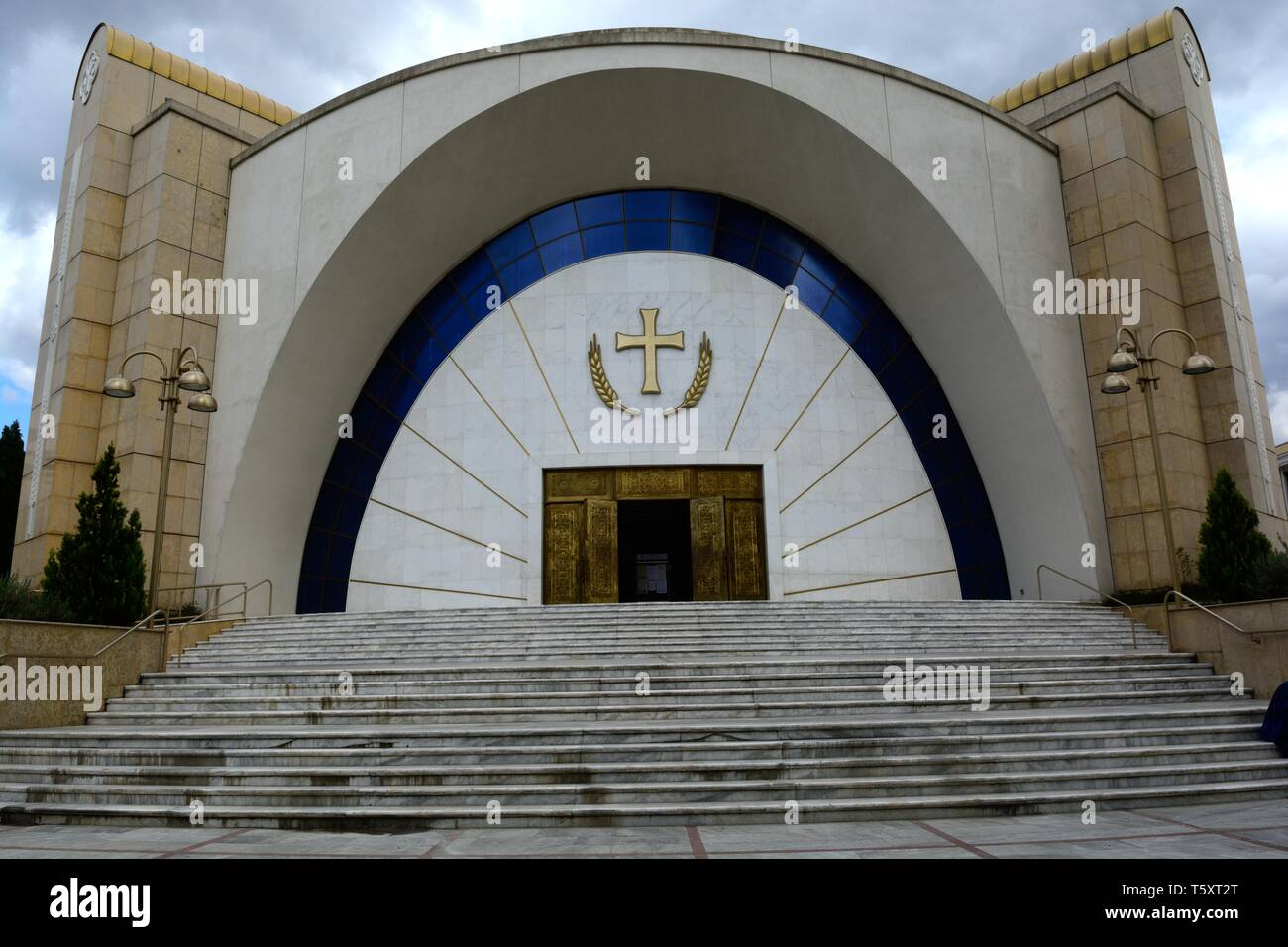 Resurrection Cathedral Albanian Orthodox church Titana Albania - Stock Image