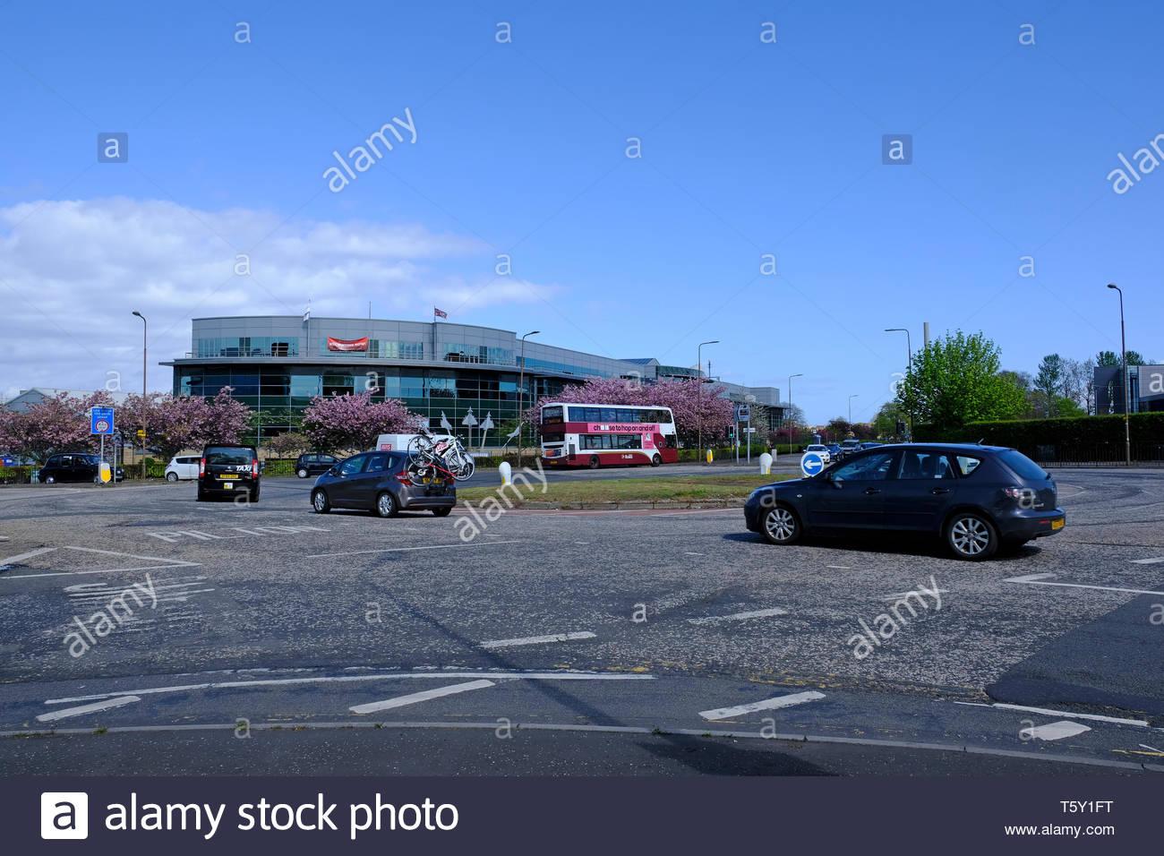 Crewe Toll roundabout, Edinburgh Scotland - Stock Image