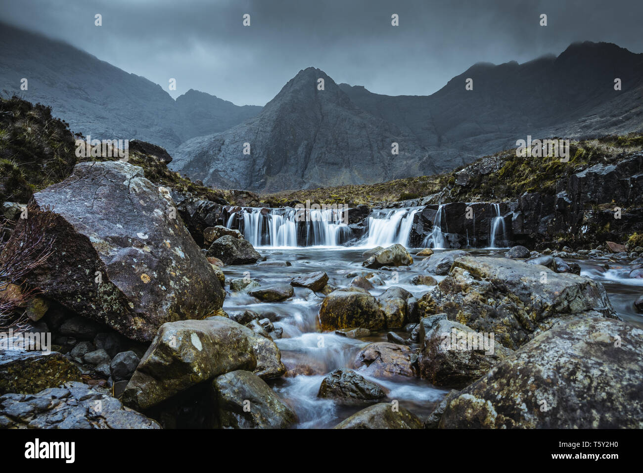 Fairy Pools at the Isle of Skye - Stock Image