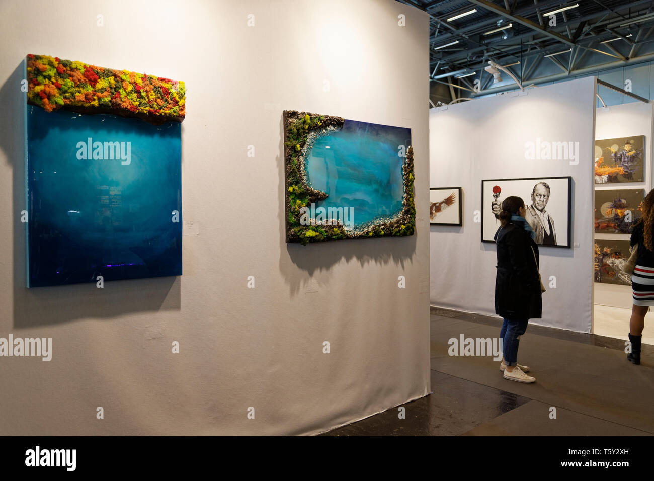 Contemporary Art Fair, International Exhibition of Contemporary Art from April 11 to 14, 2019, Paris, France.Credit: Veronique Phitoussi / Alamy Stock - Stock Image